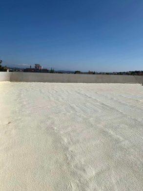 Μόνωση Ταράτσας 620τμ με πολυουρεθάνη -Γλυκά Νερά