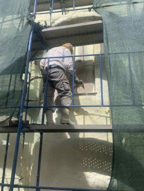 Θερμομόνωση Εξωτερικών Τοίχων 1.120τμ με spray πολυουρεθάνης - Ίλιον