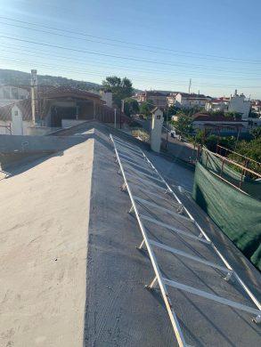 Θερμομόνωση στέγης 220τμ με spay πολυουρεθάνης - Παλλήνη