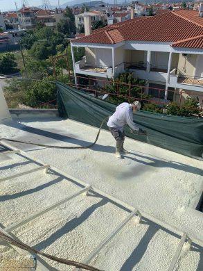 Θερμομόνωση Στέγης 220τμ με πολυουρεθάνη - Παλλήνη